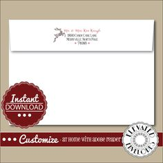 EDITABLE Christmas ENVELOPE Template,Christmas Envelope ADDRESSING,Christmas,Reindeer,Return Address,Envelope Addressing,Instant Download by ElevatedEnvelopes on Etsy