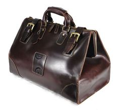 Mens Vintage Leather Travel Luggage Bag, make me feel like a 1940s doctor. I'm OK with that.