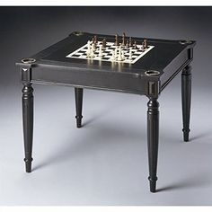 Flip-Top Game Table with Accessories in Black Licorice Finish *** Want to know more, click on the image.