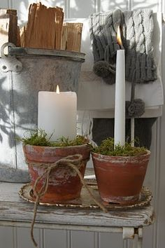 13 very nice and fun ideas on how to plant terracotta .- 13 sehr schöne und lustige Ideen, wie man Terrakotta Pflanztöpfe verzieren kan… 13 very nice and fun ideas on how to decorate terracotta plant pots! Winter Christmas, Christmas Time, Christmas Crafts, Christmas Decorations, Xmas, Holiday Decor, Decoration Shabby, Terracotta Plant Pots, Deco Nature