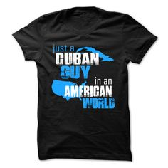 (Tshirt Perfect Choose) Just A Cuban Guy In An American World Shirts This Month Hoodies Tees Shirts