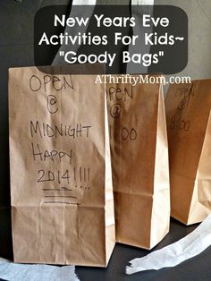 "New Years Eve Activities For Kids~ ""Goody Bags"""
