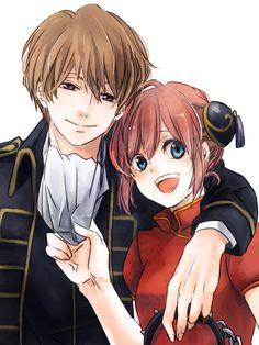 Anime: Gintama Personagens: Okita Sougo e Kagura Fanarts Anime, Manga Anime, Anime Art, Cute Anime Coupes, Anime Couples, Cute Couples, Okikagu, Anime Angel, Anime Ships