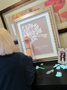 Guest Book Tree Personalized Wedding Print - 16x20 - 75 Signature Keepsake Guestbook Poster