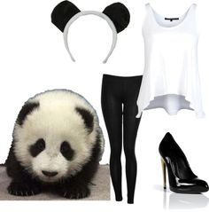 """Panda Costume"" by tristanmelissa on Polyvore"