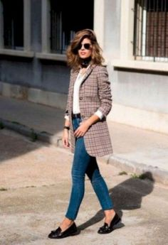 ideas for fashion casual chic cute outfits Casual Chic, Chic Business Casual, Casual Street Style, Casual Fall, Street Chic, Preppy Casual, Street Wear, Blazer Outfits Casual, Blazer Outfits For Women