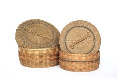 Antique Penobscot Baskets  Native American by HappyFortuneVintage