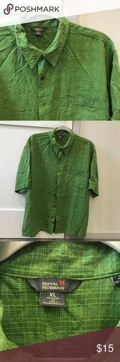 Men's Royal Robbins button down shirt Green button down shirt Royal Robbins Shirts Casual Button Down Shirts