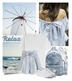 """""""Dream trip ^ (28.2)"""" by red-fashion ❤ liked on Polyvore featuring Majestic, Zimmermann, Linda Farrow Luxe, Anchor & Crew, Steve Madden, Allurez and crazyforfashion"""