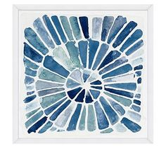 Indigo Radiant Design Wall Art #potterybarn - another option for the shower wall in the master bath
