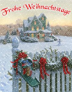 Christmas picture - Weihnachten etc - Yorgo Angelopoulos Merry Christmas Gif, Christmas Scenes, Cozy Christmas, Christmas Pictures, Christmas Greetings, Winter Christmas, Christmas Time, Vintage Christmas, Christmas Wreaths