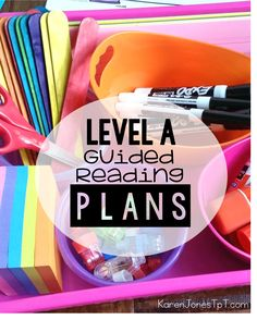 Guided Reading LEVEL A: Made easy!  Student activities and teacher tools specifically for  Level A.