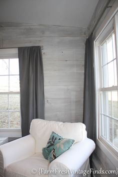 How to whitewash pine plank walls.