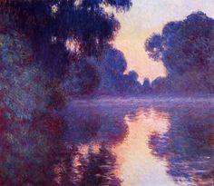 Claude Monet, Branch of the Seine near Giverny at the morning (Matinée sur la Seine, Bras de la Seine Près de Giverny) 1897