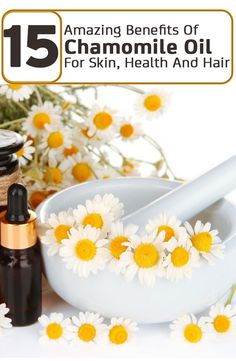 Natural Skin Remedies 15 Amazing Benefits Of Chamomile Oil For Skin, Health And Hair - Chamomile oil is one of the sacred herb that people used for centuries for its multiple uses. Learn 15 best benefits of chamomile oil for your good health. Natural Asthma Remedies, Ayurvedic Remedies, Organic Skin Care, Natural Skin Care, Natural Face, Organic Makeup, Natural Beauty, Essential Oils For Asthma, Chamomile Oil