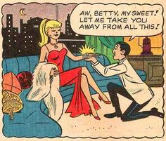 The Real Betty Dumped Archie, Regrets Nothing The real Betty Cooper just stood up, and her name is actually Betty Tokar Jankovich. At 94 years old, she's the star of &ld. Comics Vintage, Old Comics, Vintage Comic Books, Comics Girls, Vintage Cartoon, Archie Comics Strips, Archie Comics Betty, Archie Comic Books, Archie Cartoon