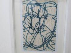 "Saatchi Art Artist Kevin Jones; Drawing, ""Blue Lines No.6"" #art"