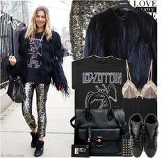 """Street Style:Jessica Hart"" by anitalolonga ❤ liked on Polyvore"