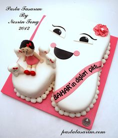 MY FIRST TOOTH CAKE - BAHAR, via Flickr.