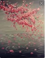 Screen Shot 2016-02-16 at 16.32.34 Cherry Blossom Art, Wine And Canvas, Easy Paintings, Learn To Paint, Painting Inspiration, Painting & Drawing, Cool Art, Art Projects, Art Drawings