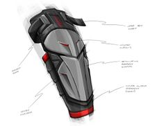 Sleeved Elbow Guard Concepts by Marco Alferez, via Behance