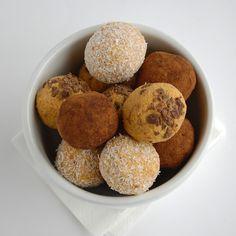 Vegan Raw Carrot Cake Balls.