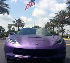 2014 C7 Z-51 Corvette Stingray in Matte Purple Metallic
