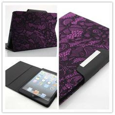 Big Dragonfly High Quality Slim Pretty Black Lace Design Folio Leather Case and Cover with Flip Stand & ID Card Slots for Apple iPad Mini 7.9 Inch Tablet for Girls Eco-friendly Package Purple Color Varies Big Dragonfly,http://www.amazon.com/dp/B00DYQQ9W0/ref=cm_sw_r_pi_dp_SYBwtb15JQ76J8S3