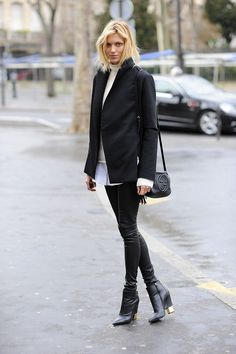 Anja Rubik's street style could give her catwalking a run for its money.  Source: Gorunway
