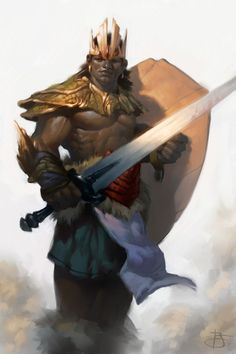a collection of inspiration for settings, npcs, and pcs for my sci-fi and fantasy rpg games. Fantasy Warrior, Warrior King, Fantasy Comics, Fantasy Rpg, Fantasy Artwork, Fantasy City, Black Characters, Dnd Characters, Fantasy Characters