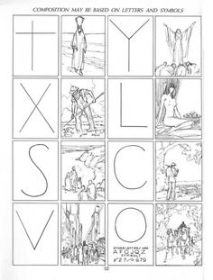 """talesfromweirdland: """" Some sample pages from Andrew Loomis's series on how to draw comics, concerning perspective and composition. (The changes in font and layout stem from the fact the pages come from different prints.) I tried to collect. Elements And Principles, Elements Of Art, Design Elements, Art Basics, Composition Design, Composition Drawing, Composition Examples, Composition Techniques, Photography Lessons"""