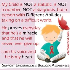 Please Support Awareness & Research for Epidermolysis Bullosa! Visit http://www.ebinfoworld.com for more information!