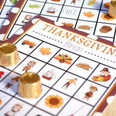 Free Printable Thanksgiving Bingo Cards to play while you wait for the turkey to cook.