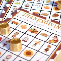 thanksgiving bingo cards.