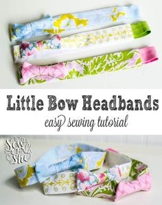Little Bow Headbands for girls & tweens (a sewing tutorial) — SewCanShe | Free Daily Sewing Tutorials