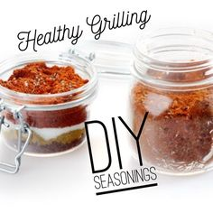 DIY Seasonings - perfect for summertime grilling on the 21 Day Fix Plan! Healthy Grilling, Grilling Recipes, Healthy Snacks, Cooking Recipes, Healthy Recipes, Eat Healthy, 21 Day Fix Menu, 21 Day Fix Plan, Recipe 21