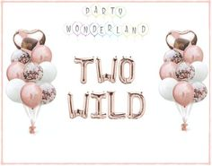 """IMPORTANT: If you don't have a PayPal account that is fine. You can check out with PayPal as a GUEST and use your Credit / Debit card or Bank Account to pay. Please message me if you have a payment issue.♥IMPORTANT♥   ----> Please Provide me with your event date<-----♥Our """"TWO WILD"""" Balloon set includes followings:     1 x 16"""" Alphabet Balloon (Rose-gold, Gold or Silver)     2 x 18"""" Foil Heart Balloons (Rose-gold, Gold or silver)     6 x 12"""" Confetti Balloons (Rose-gold, Gold or silver) Champagne Balloons, 16 Balloons, Photo Balloons, Rose Gold Balloons, Letter Balloons, Heart Balloons, Confetti Balloons, Gold Party Decorations, Bachelorette Party Decorations"""