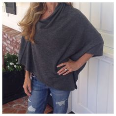 Love my luxe pullover wrap...and it's cashmere! Can dress it up or down. Super comfy and great price! www.mason-street.com