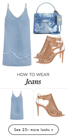 """""""Untitled #4122"""" by evalentina92 on Polyvore featuring Valentino, Alexandre Birman and M.i.h Jeans"""