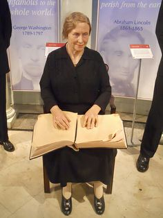 Helen Keller figure at Madame Tussauds - NYC