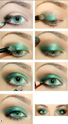 Jessica Alba style - green eyes makeup tutorial