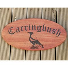 House sign engraved red gum stainless steel hanging bolts