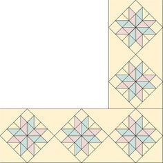 "TLC ""Eight-Pointed Star Quilt Border Pattern"""