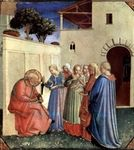 """nataliakoptseva: """"Fra Angelico The adoption of the name at baptism, a fragment of the polyptych """" Naming of St. John the Baptist by Fra Angelico, c. Fra Angelico, Renaissance Kunst, Italian Renaissance, Saint Dominique, Saint Jean Baptiste, Religious Paintings, Free Art Prints, John The Baptist, Catholic Art"""