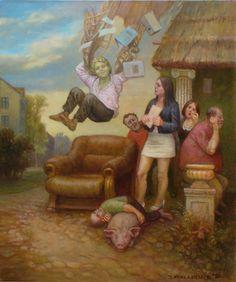 ArtGalery ° personalArt.pl  tytuł pracy: Niespodziewany upadek Ikara autor: Jarosław Miklasiewicz www.mijaro.personalart.pl