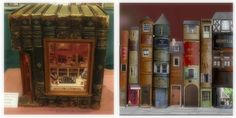 I don't know if I could do this to books, but if I did, the pic on the right looks really cute (like the city mouse).  Even Adults Would Love These 30 Amazing Dollhouses