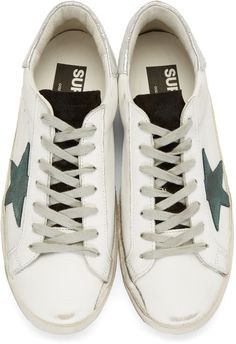 745e2cab8 Golden Goose - White Superstar Sneakers Golden Goose