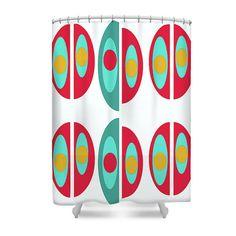 Items similar to Mid Century Modern Shower Curtain Pattern Bath Curtain on Etsy