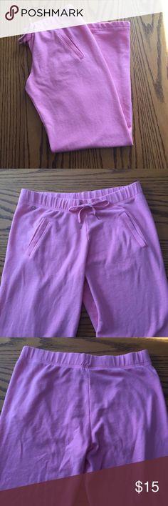 "Victoria's Secret pink pants. Size xsmall Victoria's Secret pink pants. Size xsmall  36 1/2"" long. Cotton. Tie waist band. Pockets Victoria's Secret Pants"