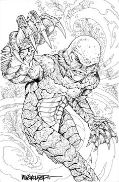 lagoon coloring pages | The Dork Review: John Byrne's Monsters for Halloween ...
